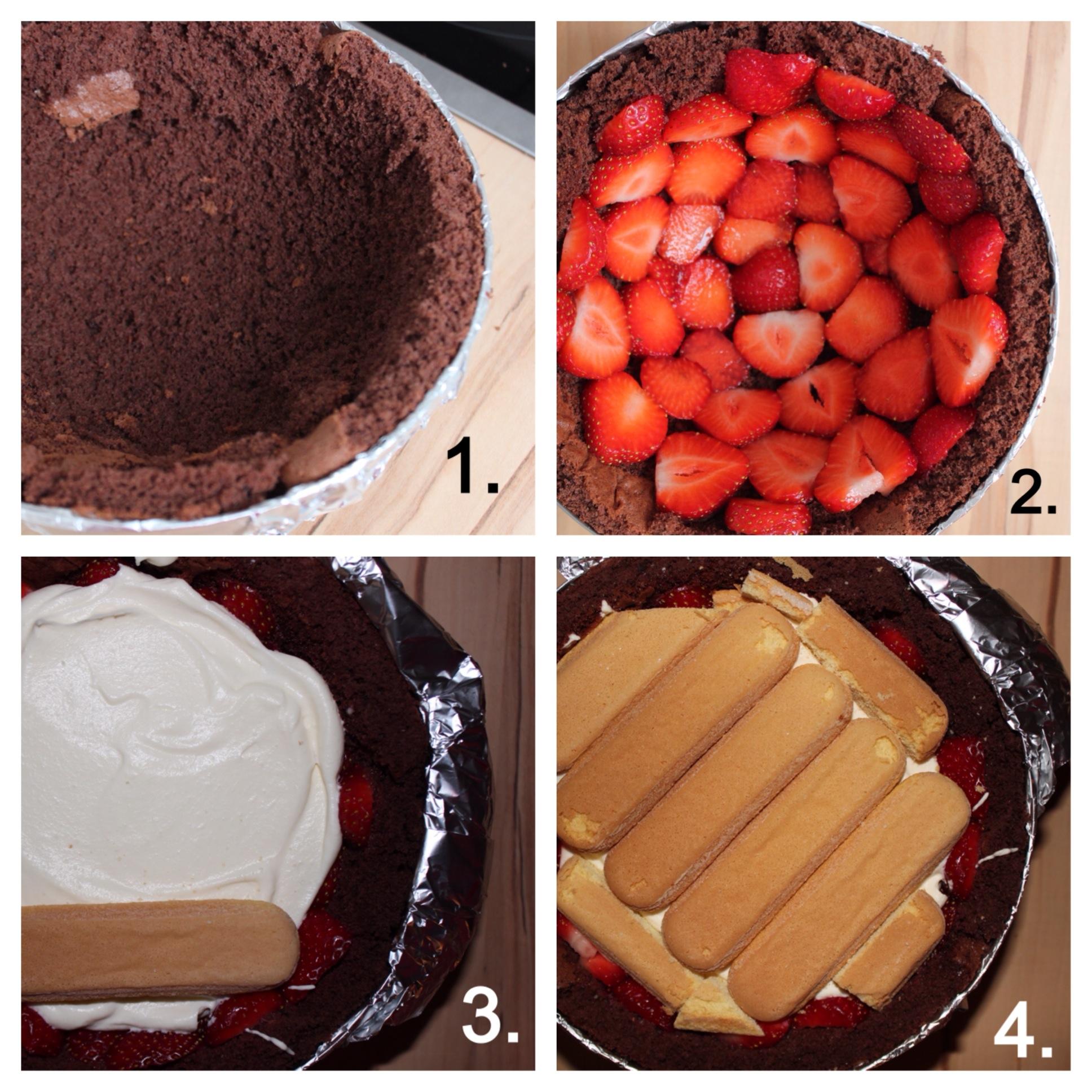Erdbeer Schoko Kugeltorte Tezukuri Baking